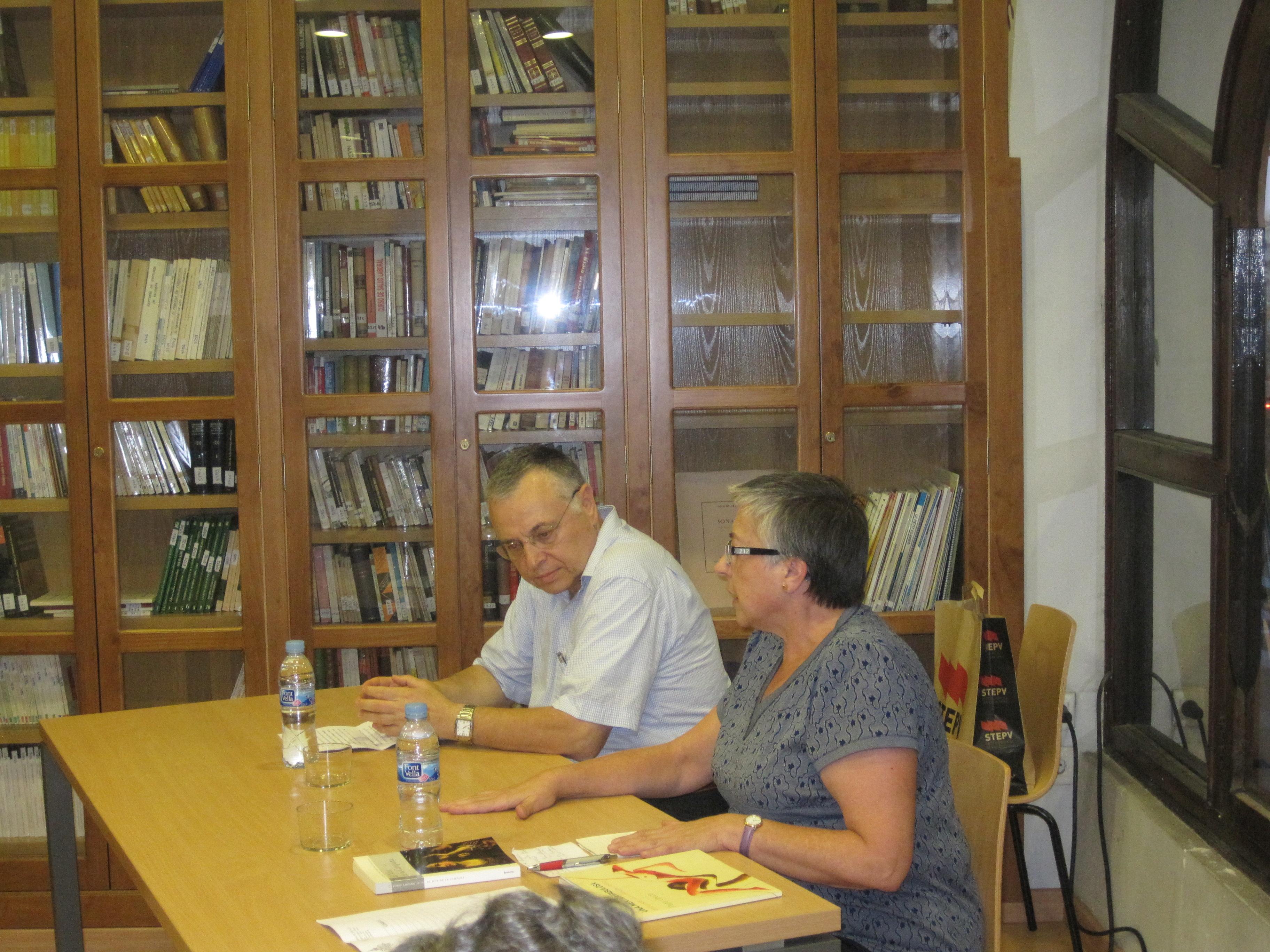 Un moment de la presentació de Josep Lozano. Fotos: Pepa Úbeda i Ismael Vallès.