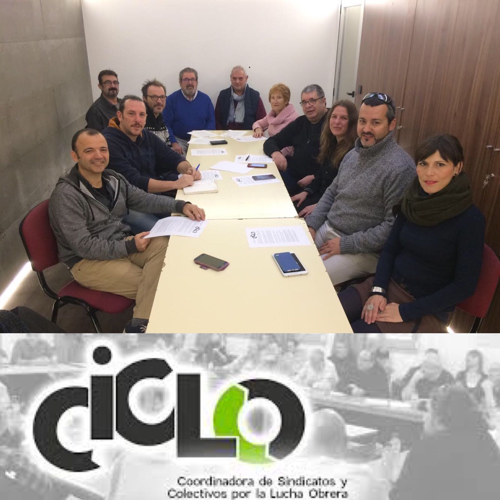 Constitució de la Coordinadora de sindicats i col·lectius per la lluita obrera (CICLO)