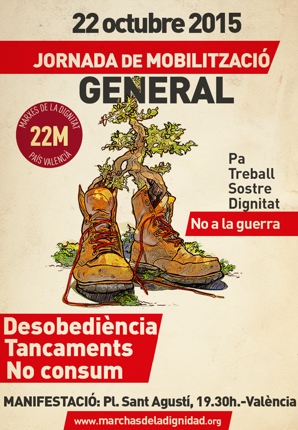 Cartell de les mobilitzacions a València del 220