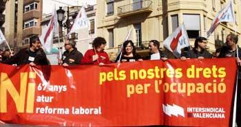 La manifestació del 19 de febrer a Castelló
