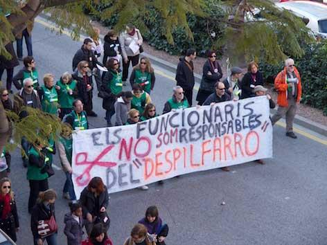 Marxa contra el balafiament del 12 de febrer a València.