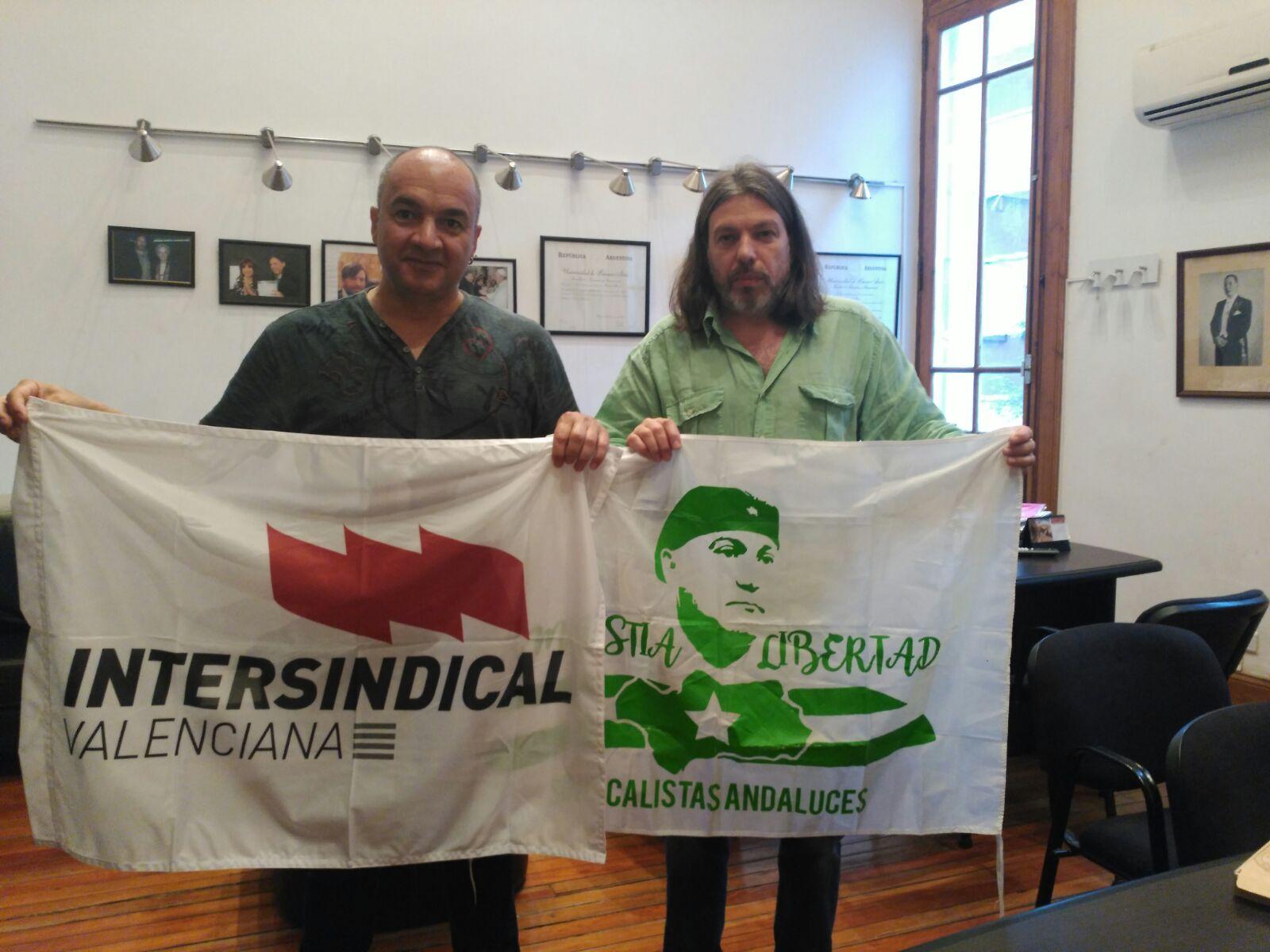 Paco González amb Daniel Ricci, secretari General de ADUBA i líder sindical de FEDUM i FESIDUAS