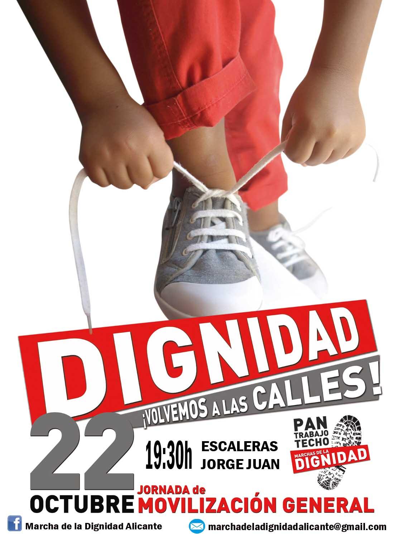 Cartell de les mobilitzacions d'Alacant
