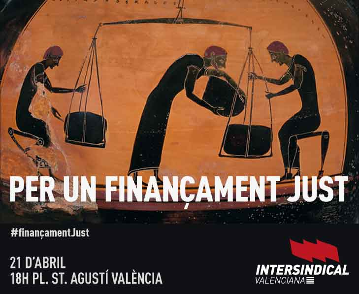 Per un finançament just, 21 d'abril 2018