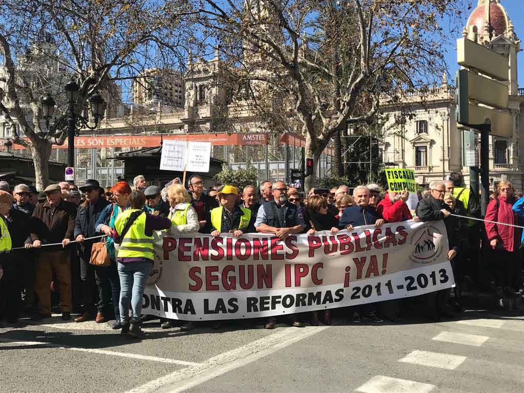 Manifestació de hui, a València