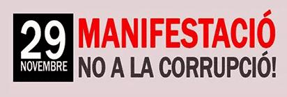 29-N Manifestació No a la corrupció