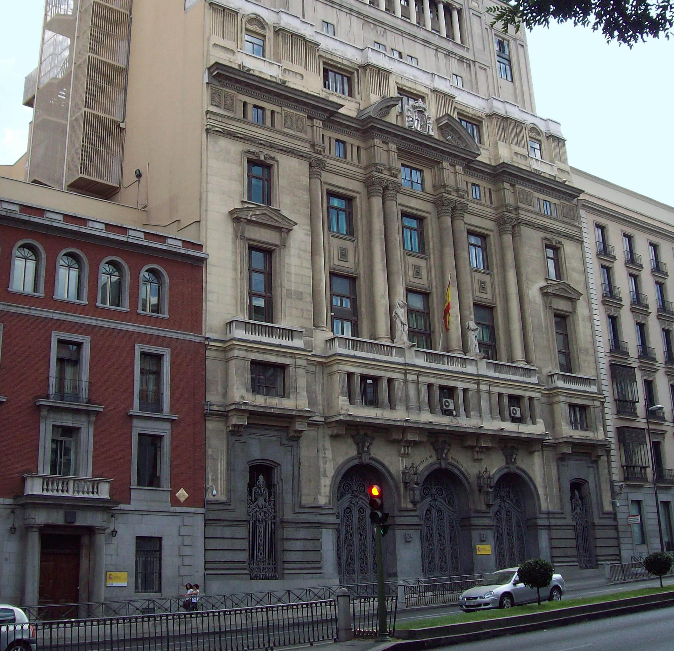 Ministeri d'Educació, a Madrid.