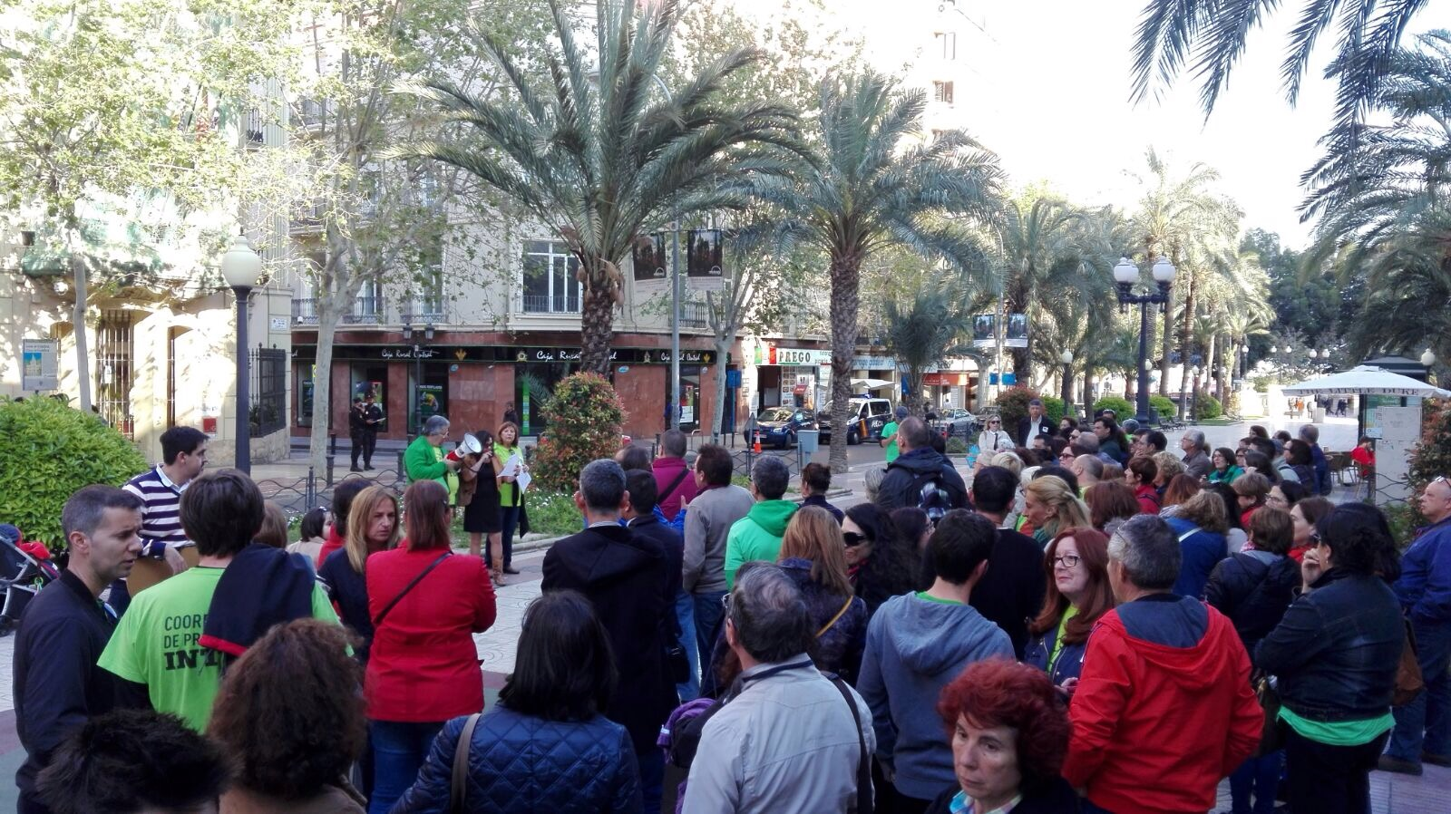 Un moment de la concentració a Alacant