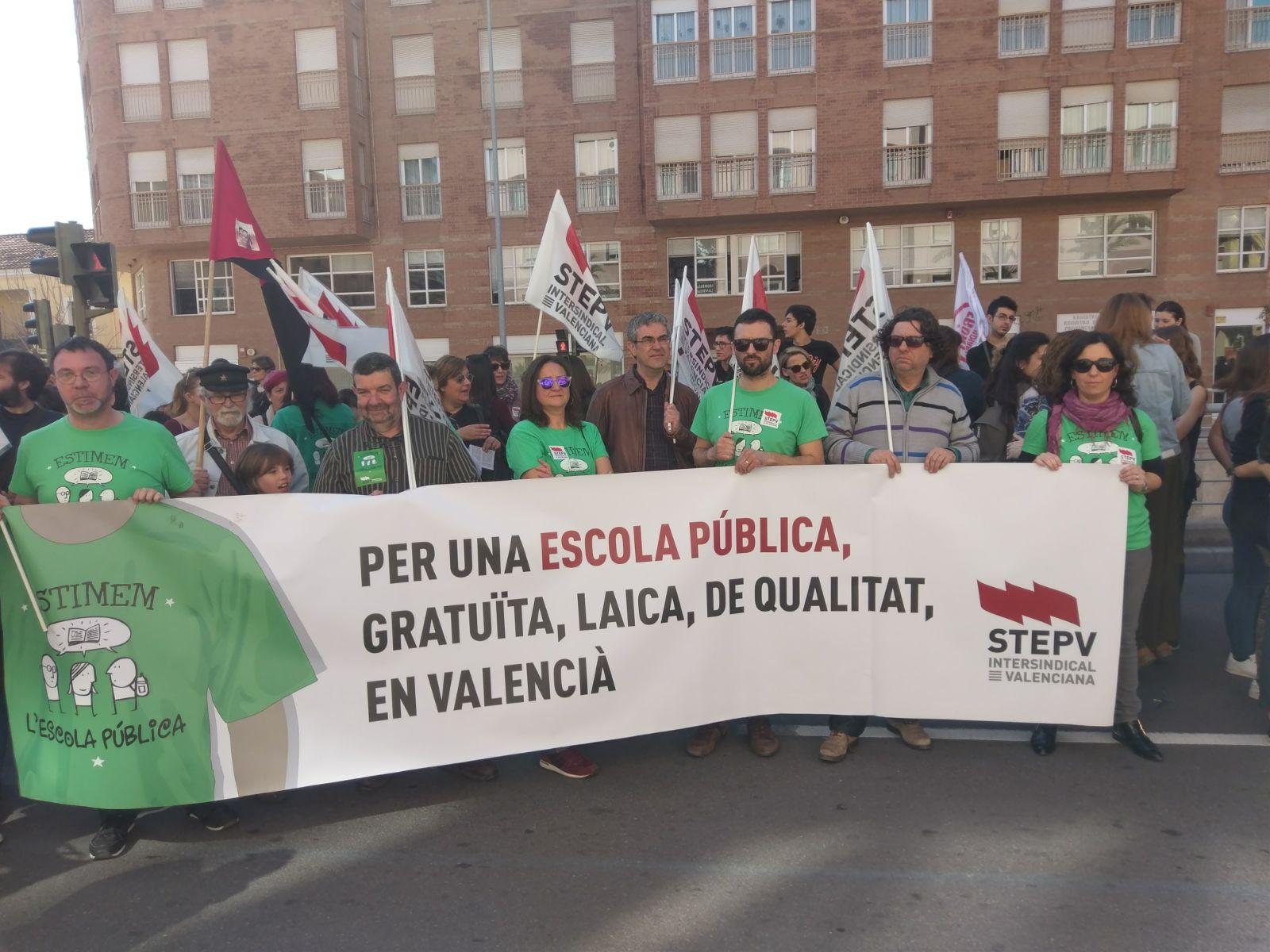 Un moment de la manifestació a Castelló aquest matí