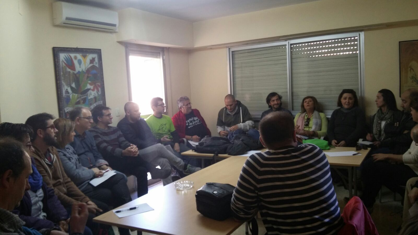 Un moment de la reunió de la CPI a Alcoi