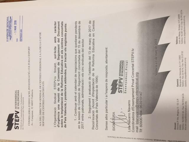 Escrit de petició de reunió CS concertada